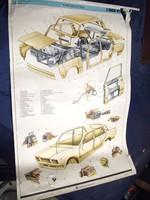 Veterán poszter, plakát retro Zsiguli Lada 2107 VAZ 3