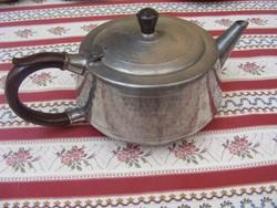 Csodás antik jezett ón teáskanna hőelnyelő bakelit füllel