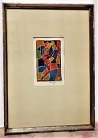 Ismeretlen Kubista festmény 70-es évek lásd szignó I.
