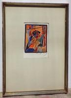 Ismeretlen Kubista festmény 70-es évek lásd szignó II.