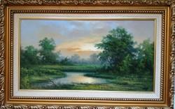 Czinege Zsolt : Nyár c. festmény negyed áron