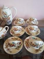 Zsolnay kézzelfestett kávés készet