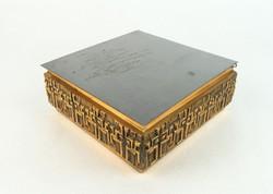 0N286 Iparművészeti réz doboz MÓGA ötvösmunka