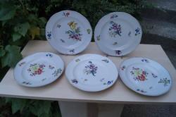 Herendi Fischer 5 db  tatai tányér a 19. századból