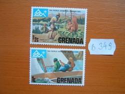 GRENADA 1/2+1 C 1975 A 14. Cserkész Világtalálkozó, Norvégia B349