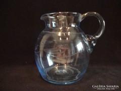 Régi kék köpcös üveg kancsó