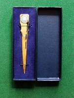 Elegáns levélbontó kés eredeti dobozában, jelzett