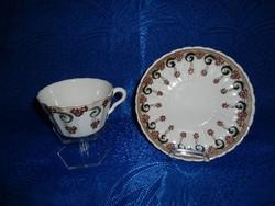 Zsolnay 1880 Szecessziós csésze + aljal eredeti