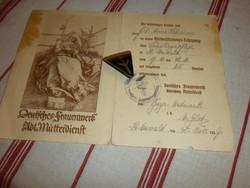 Frauwenwek  jelvény és papir