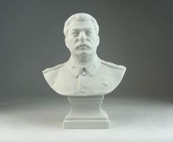 0N535 Herendi porcelán Sztálin mellszobor 17 cm