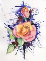 Rózsa - akvarell