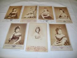 Hires magyar asszonyok dedikált fényképei 1870 körül