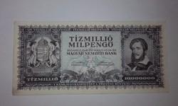 Tizmillió Milpengő,hajtatlan ,ropogós szép bankjegy!