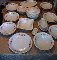 Zsolnay étkészlet 6 személyes. hibátlan 25 db-os. barokk rózsamintás