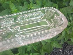 Antik üveg tálka,  23 cm