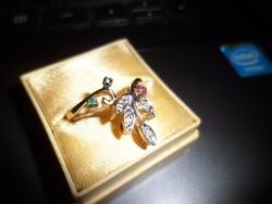 14K szecessziós arany gyűrű