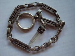 Ritka szép régi Ezüst zsebóra lánc