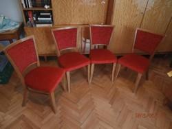 Tűzpiros retro kárpitos székek