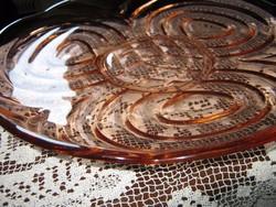 Lazac színű üveg tálaló  kínáló tál  nagy méretű