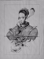 Dienes Gábor - Lány 45 x 32 cm litográfia