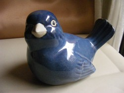 Nagyméretű kerámia kék madár