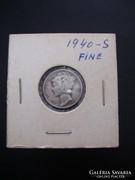USA One Dime 1940 S Silver, Fine!