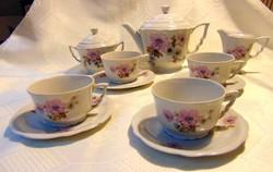 Vadrózsás barokk zsolnay teás készlet