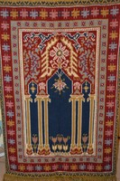 Gyönyörű, nagyméretű gyapjú Kelim fali szőnyeg, fali kárpit