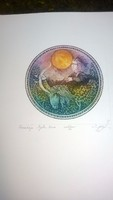 Egresi Zsuzsa rézkarc, horoszkóp: Nyilas hava