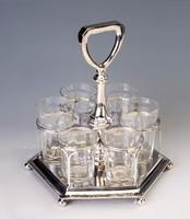 Ezüst art deco pohárkészlet