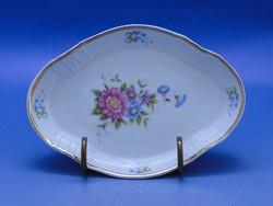 0C504 Ovális alakú hollóházi porcelán kínáló tál