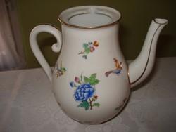 Különleges mintázatú herendi porcelán kávés kancsó
