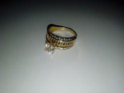 Gyönyörű 14k köves arany gyűrű