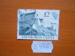 """ANGOL ANGLIA 2 FONT 1988 Brit várak és kastélyok """"Edinburgh Castle"""" B476"""