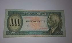1000 forint 1983-as November  D sorszám  , nagyon szép állapotban!