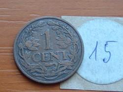 HOLLANDIA 1 CENT 1919 RITKA ÉVJÁRAT  15.