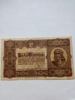 1923-as 100 korona Magyar Pénzjegynyomda RT Budapest