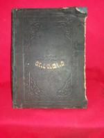 Antik Héber nyelvű könyv zsidó TÓRA(?)  TALMUD (?) a képek szerinti állapotban