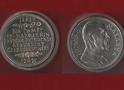 Masaryk ezüst emlékérem 1935