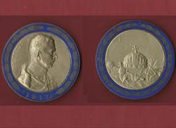 IV. Károly zománcozott bronz emlékérem 1917