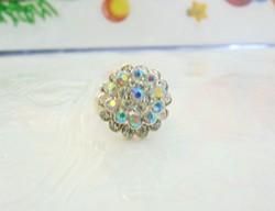 Szép szivárvány köves,állítható gyűrű