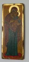 STELLA ikonfestő kézzel festett másolat eredeti technikával: ISTENANYA A GYERMEK JÉZUSSAL 16. sz.