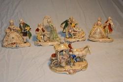 Barokk figurák 13 darabos kollekciója gyűjtőknek. Korjellemző mozzanatok. Részletes adatokkal.