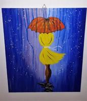 Esernyős lány