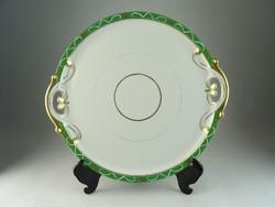 0N469 Régi FISCHER & MIEG aranyozott porcelán tál