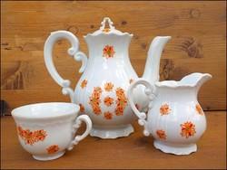 Zsolnay virágos kávéskészlet maradék