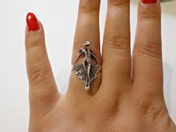 Nő alakos ezüst gyűrű