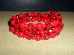 Piros 4 soros Briolett gyöngyös karperec
