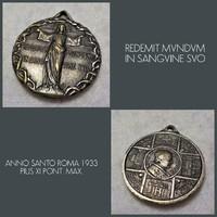 † 1933 XI. PIUS PÁPA EZÜSTÖZÖTT MEDÁL ROMA †