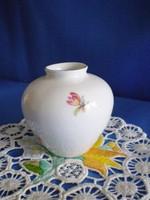 Hollóházi kicsi pocakos porcelán ibolya váza